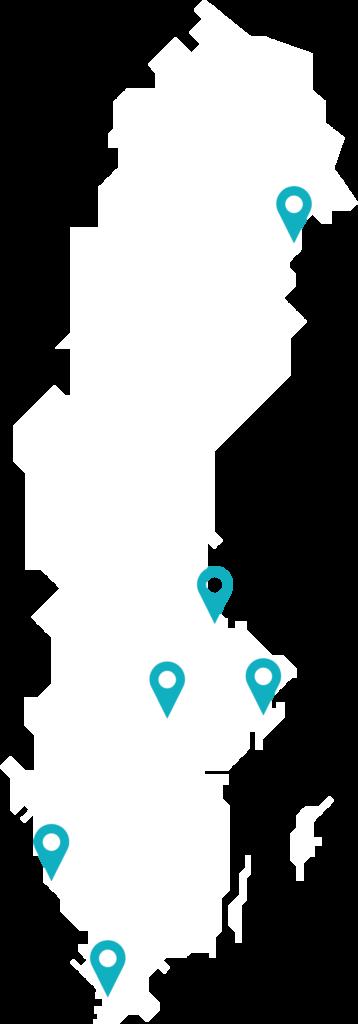Karta över Sverige
