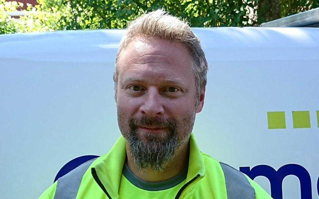 Geomatikks fälttekniker Jörgen Fröberg