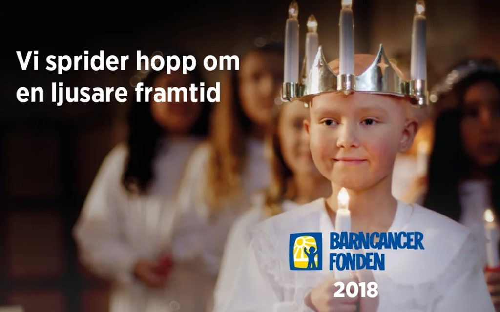 Geomatikk Sverige stödjer Barncancerfonden.