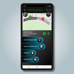 Skärmvy av appen GeoDig